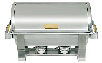 Update RTC-8 8qt Stainless Steel Chafing Dish w/ Brass Handles & Knob