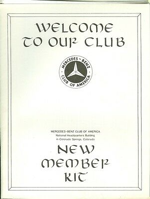 1988 Mercedes-Benz Club of America New Member Kit