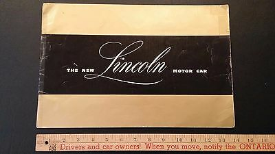 1946 LINCOLN + Continental - Color Dealer Sales Brochure Catalog - Good (US)
