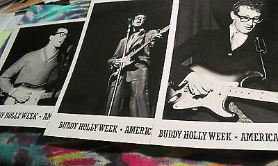 """Buddy Holly- Set Of 3  - 8"""" X 10"""" Photo - From  B.h. Week 1983 -----  K @ @ L"""