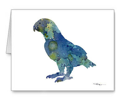 African Grey Note Cards With Envelopes