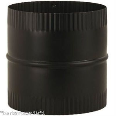 Black Wood Stove Pipe Flue 6 X 6 Union Connector Imperial BM0047 Adapter NEW