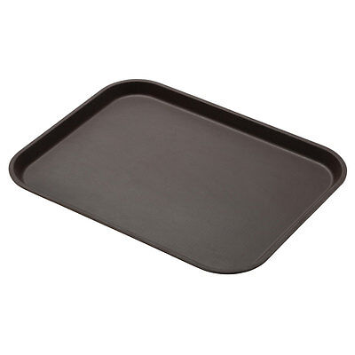 "Cambro 1520CT138 Case of 12 - 15"" x 20-1/4"" CamTread Serving Tray Tavern Tan"