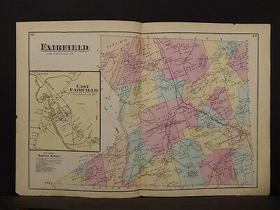 Vermont, Franklin County Map, 1871, Fairfield Township, Double Page, K2#17