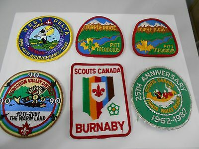 (Pd2-R)  Six British Columbia Listed Scout Badges    Canadian Scout Badges