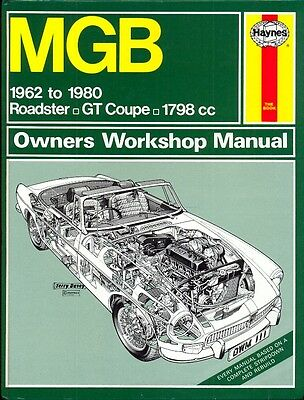 MG MGB & GT 1962-1980 1798cc Haynes workshop manual