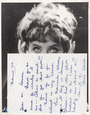 Anna Dawson The Good Old Days Kenny Everett TV Show Hand Signed Photo & Letter