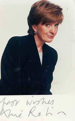 Anne Robinson Hand Signed Photo