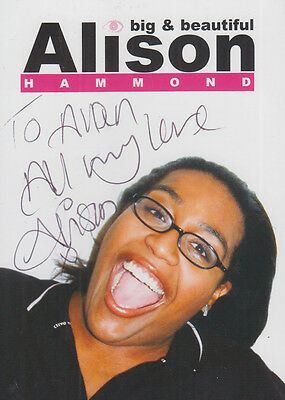 Alison Hammond Big & Beautiful Hand Signed Publicity Card Photo