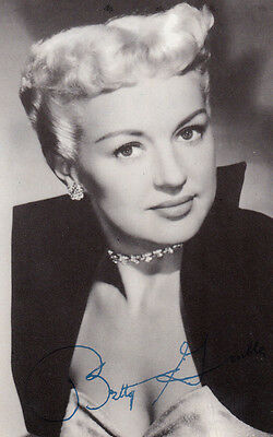 Betty Grable Antique Printed Signed Stunning Old Postcard Photo