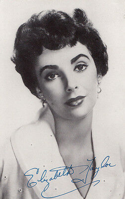Elizabeth Taylor The Girl Who Had Everything Signed Photo Postcard