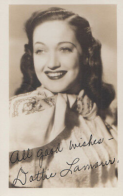 Dorothy Lamour Actress Original Hand Signed Vintage Photo