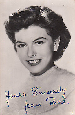 Joan Rice Vintage Pre Printed Signed Antique Photo