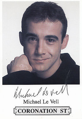 Michael Le Vell Coronation Street Actor Printed Signed Rare Cast Card Photo