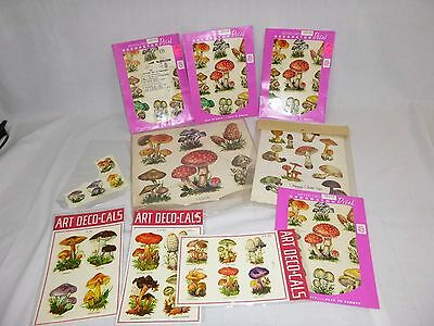 Large Lot of Vtg 70's Meyercord & Others Mushroom Decals Transfers - Groovy!