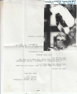Virginia McKenna of Born Free in The King & I Hand Signed Letter & Photo
