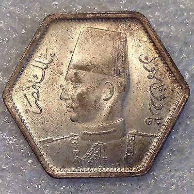 Egypt 2 Piastres 1944 Silver Great Sharp Coin!