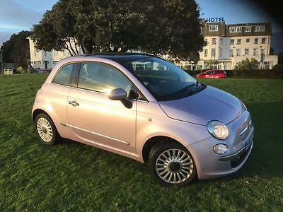 2012 62 Fiat 500 1.2 Lounge 3D 69 Bhp In Idol Pink Rosa Diva 1 Owner 18000 Miles