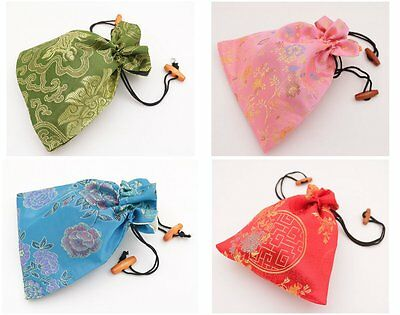 1pcs 15*18cm jewelry gift bag pouch man-made Brocade silk cloth choose color