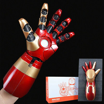 1:1 The Avengers Iron Man MK 42 Sound LED Lighting Laser Gun Fore Arm Cos Props