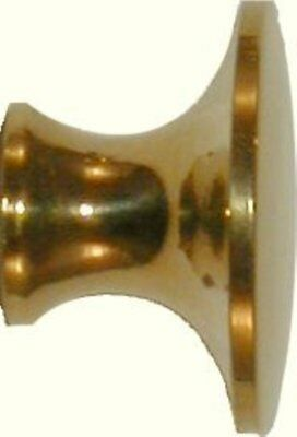 """3/4"""" Polished Turned Solid Brass BOOKCASE Knob desk small cabinet drawer pull..."""