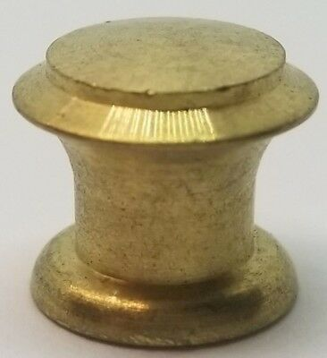 "Turned Round Small Drawer Brass Knob - 1/2"" vintage antique pull drawer"