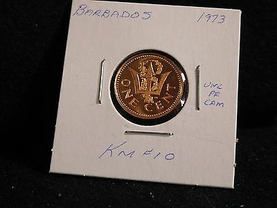 Barbados:   1973   One Cent  Coin  Proof (Unc.)    (#3838)  Km # 10