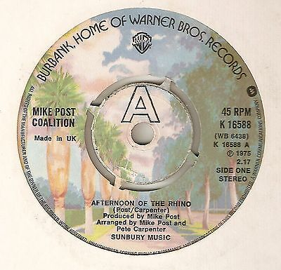 MIKE POST COALITION Afternoon Of The Rhino Bubble Gum  NORTHERN SOUL UK 45