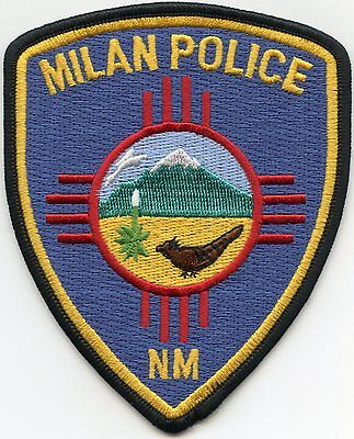 Milan New Mexico Nm Police Patch