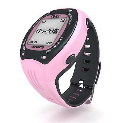 Multi-Function Digital LED Sports Training Watch with GPS Navigation Pink Color