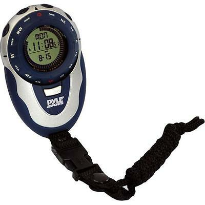 Pyle Handheld Track Watch with Digital Compass 42 Laps Chronograph Memory Pacer