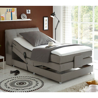 boxspringbett concort anthrazit komfortbett mit motor und topper 120x200 cm eur 789 95. Black Bedroom Furniture Sets. Home Design Ideas