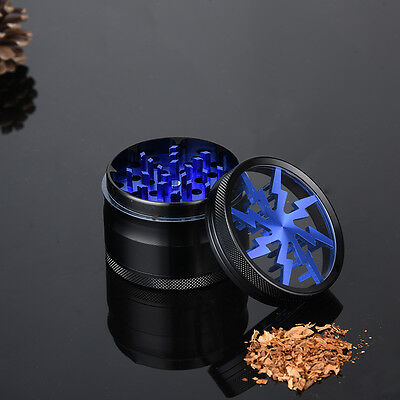 Zinc Alloy 4 Layer Herbaceous Plant Grinder Crusher Tobacco Herb Grinder Blue