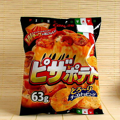 Japanese Calbee PIZZA CHEESE Ripple Potato Chips Japan Thick Topping 63 grams