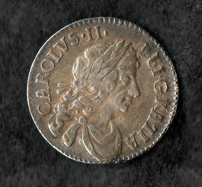 Charles II Maundy Twopence Silver 1679 HIB Over FRA Rare Variety