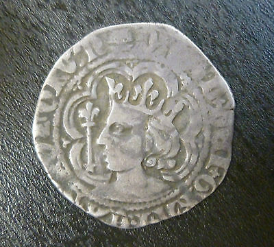 Scotland Hammered Silver David II Halfgroat Edinburgh Mint 1367-71 S5128
