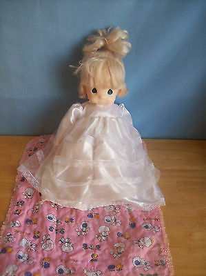 Precious Moments Cloth Body Doll With White Dress