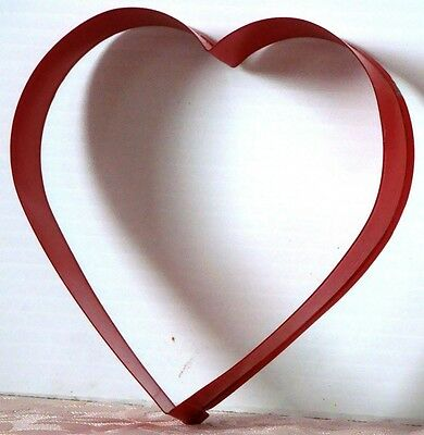 """EXTRA Large EUC Metal HEART Cookie Cutter RED 5"""" x 4.75"""" x 7/8"""" inch Deep"""