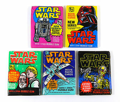 1977 Topps Star Wars Series 1,2,3,4,5 Packs Lot
