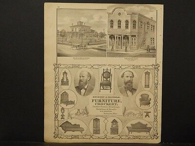 Ohio, Portage County Map, 1874, Engravings, Seymore & Fairchild Furniture, J1#28