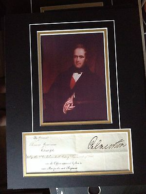 Viscount Palmerston - Former Prime Minister - Excellent Signed Photo Display