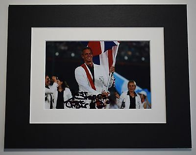 Mark Foster Signed Autograph 10x8 photo mount display Swimming Sport AFTAL COA