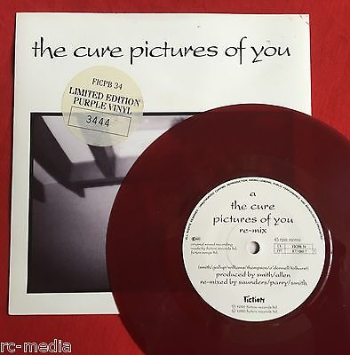 "THE CURE - Pictures Of You - Rare UK Purple Vinyl 7"" + Picture Sleeve (Record)"