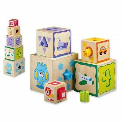 Jouéco Stacking tower with Shapes for Sort