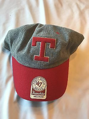 new style ffa61 a456c Texas Rangers hat 47Brand Grey Red brim cap Size XLarge New with Tags MLB