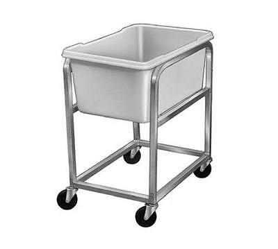 Channel Manufacturing 600 Mobile Aluminum Bus Food Storage Cart w/ Stackable Bin