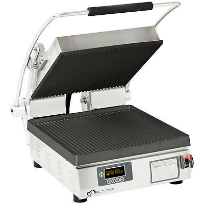 Star PGT14IT Pro-Max Panini Grill Grooved Iron Plate w/ Electronic Timer