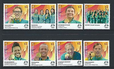 Australia 2016 Rio Olympics Set Of 8 Unmounted Mint, Mnh