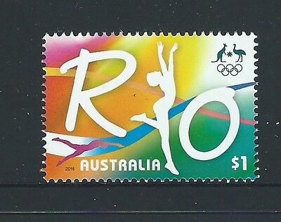 Australia 2016 Rio Olympics Single Stamp Unmounted Mint, Mnh