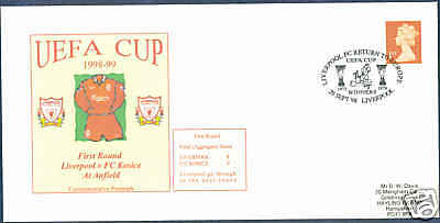 FOOTBALL - 98-9 LIVERPOOL v  F.C. KOSICE UEFA CUP Cover *